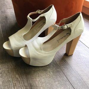 White Jeffery Campbell Heels